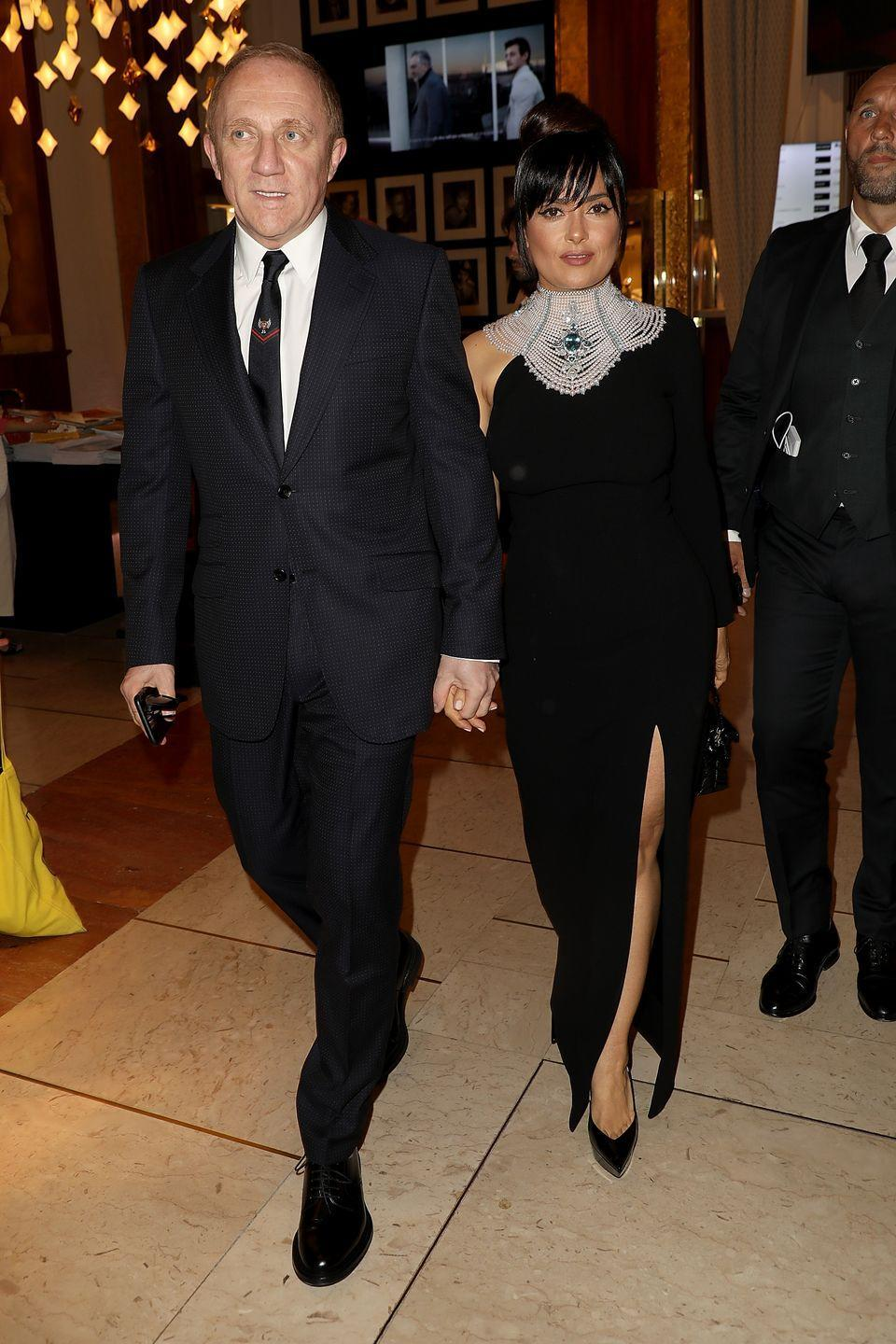 "<p>The pair were set up back in 2006 and the blind date could not have started off worse. </p><p>""I didn't know it was a date,"" the actress told <em><a href=""http://latina.com/entertainment/celebrity/salma-hayek-latina-magazine-october-2015-cover-star?page=1,1"" rel=""nofollow noopener"" target=""_blank"" data-ylk=""slk:Latina"" class=""link rapid-noclick-resp"">Latina</a>.</em> ""I thought I was going to an event, and then there was one person at it. I was set up by friends to think I was going to an event, because they knew I wouldn't go on a date! I was angry. And he didn't know, because he thought I knew he was coming just to meet me. I started out really badly, but, as you can see, it ended happy."" <br></p>"