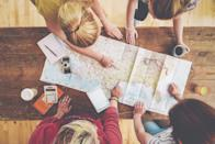 """<p>You might not be actually taking a vacation any time soon, but that doesn't mean you can't plan one. A study published in the Journal of Applied Research in Quality of Life had researchers look at how <a href=""""https://well.blogs.nytimes.com/2010/02/18/how-vacations-affect-your-happiness/?_r=0"""" rel=""""nofollow noopener"""" target=""""_blank"""" data-ylk=""""slk:vacations affects overall happiness"""" class=""""link rapid-noclick-resp"""">vacations affects overall happiness</a>. The study looked at the happiness levels of 1,530 Dutch adults and found that the biggest boost in happiness came from the simple act of just planning the trip. That anticipation for the vacation made them feel happier for up to eight weeks. </p><p>So, plan your own getaway, even if it's something small, like camping when the weather is warmer or going on a road trip.</p>"""