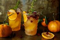 "<p>The mix between tarty orange flavours and herby thyme makes this cocktail the perfect aperitif.</p><p><strong>Recipe: <a href=""http://heatherchristo.com/2015/12/23/sparkling-clementine-thyme-cocktail/"" rel=""nofollow noopener"" target=""_blank"" data-ylk=""slk:Sparkling clementine and thyme cocktail"" class=""link rapid-noclick-resp"">Sparkling clementine and thyme cocktail</a></strong></p><p><strong>Recipe by Heather Christo<br></strong></p>"