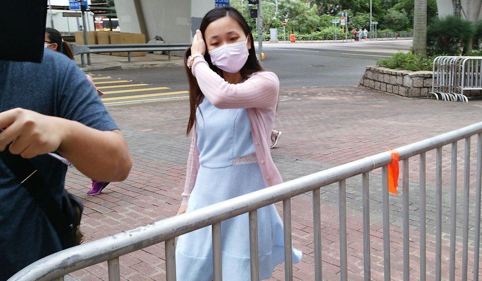 Secondary school teacher Mak Pui-shan arrives at West Kowloon Court on Tuesday. Photo: Brian Wong