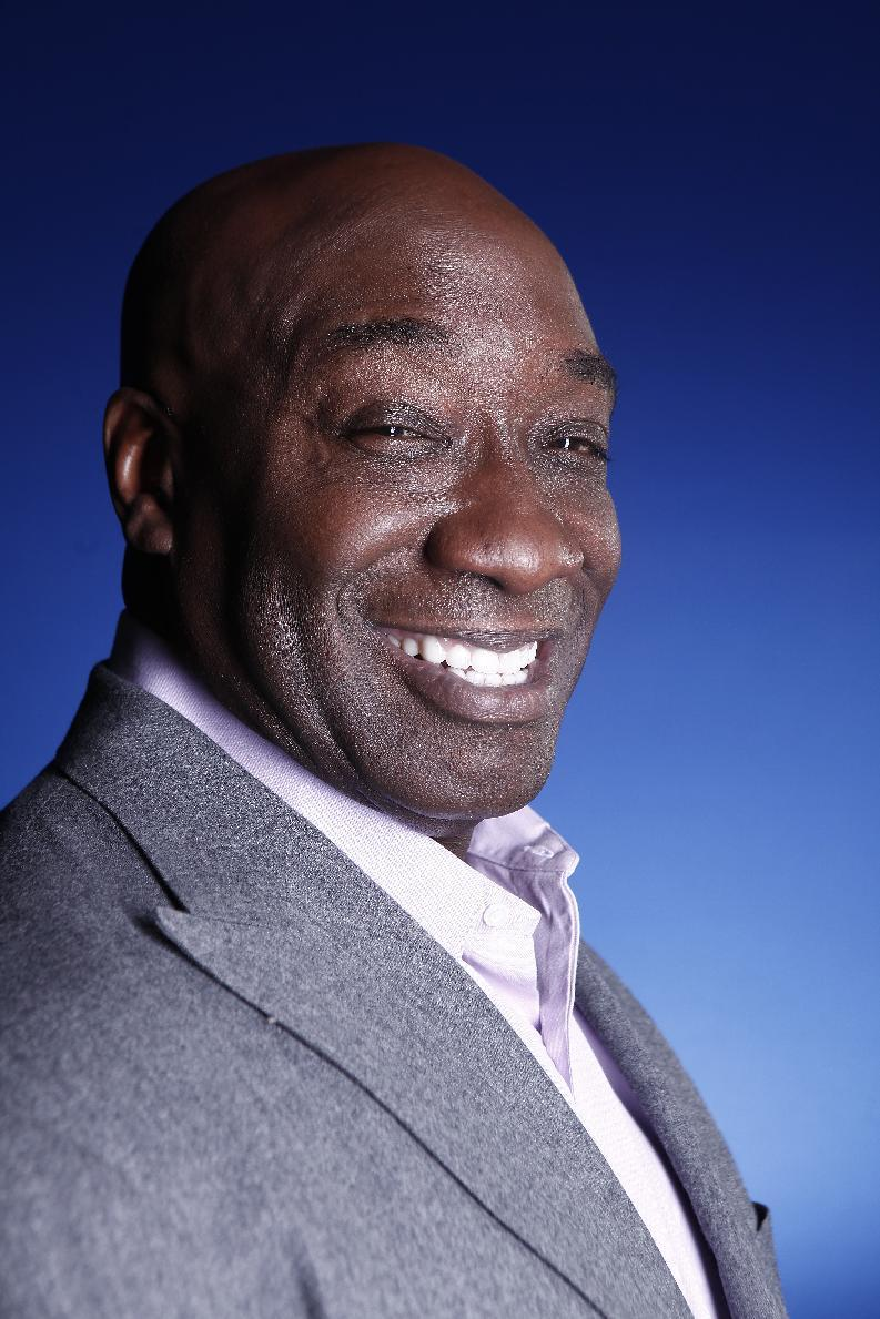This Wednesday, Jan. 11, 2012 photo shows actor Michael Clarke Duncan in New York. Duncan has died at the age of 54 on Monday, Sept. 3, 2012 in a Los Angeles hospital after nearly two months of treatment following a July 13, 2012 heart attack, his fiancee, the Rev. Omarosa Manigault, said. (AP Photo/Carlo Allegri)