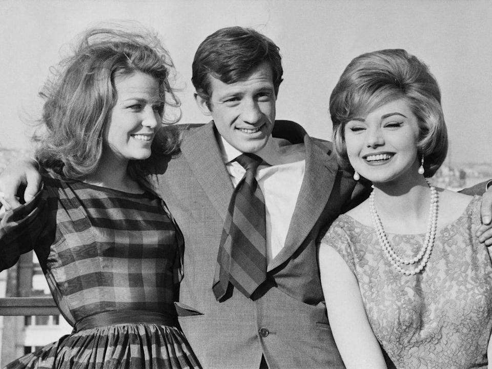 Belmondo with Alexandra Stewart (left) and Sylva Koscina, his co-stars in 1960's 'Les Distractions' (Getty)