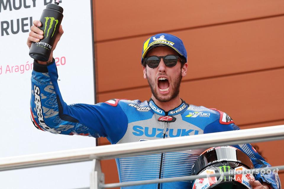"Podio: segundo lugar Alex Rins, Team Suzuki MotoGP<span class=""copyright"">Gold and Goose / Motorsport Images</span>"