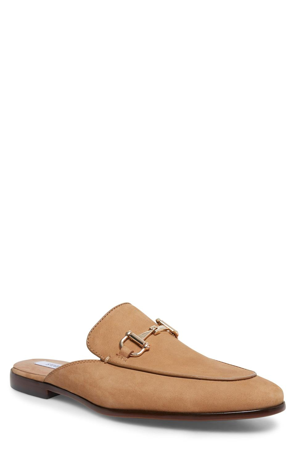 """<p><strong>STEVE MADDEN</strong></p><p>nordstrom.com</p><p><a href=""""https://go.redirectingat.com?id=74968X1596630&url=https%3A%2F%2Fwww.nordstrom.com%2Fs%2Fsteve-madden-dazling-mule-men%2F5311347&sref=https%3A%2F%2Fwww.esquire.com%2Fstyle%2Fmens-fashion%2Fg37002225%2Fnordstrom-anniversary-sale-mens-fashion-deals-2021%2F"""" rel=""""nofollow noopener"""" target=""""_blank"""" data-ylk=""""slk:Shop Now"""" class=""""link rapid-noclick-resp"""">Shop Now</a></p><p><strong>Sale: </strong><strong>$71.90</strong></p><p><strong>After Sale: $110.00</strong></p><p>Mules are our friend. And this one should be your BFF. </p>"""