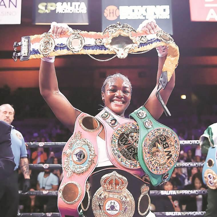 Boxing, Claressa Shields, Christina Hammer, Claressa Shields vs Christina Hammer, Claressa Shields Christina Hammer match, women's boxing, boxing news, indian express