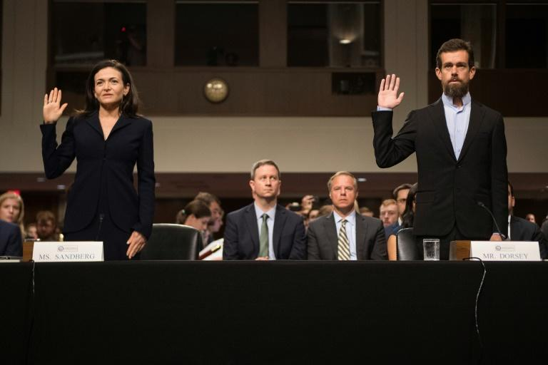 Twitter CEO Jack Dorsey and Facebook chief operating officer Sheryl Sandberg testified at a Senate hearing on foreign influence campaigns on social media