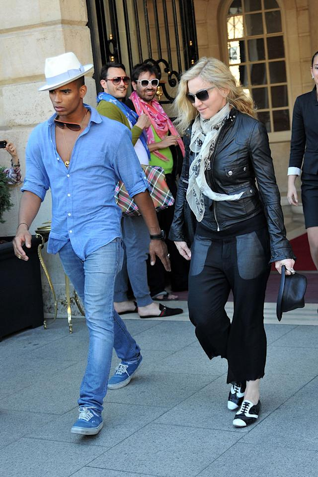 "Talk about a May-December romance! Madonna's always had a thing for younger men, but her new beau, French dancer Brahim Zaibat 24, is a whopping 29 years younger than the 53-year-old singer. The two -- who recently enjoyed a jaunt to the French Riviera together -- met last September when he performed at her clothing line launch event. We're sure that's a story they'll tell their grandchildren... <a href=""http://www.infdaily.com"" target=""new"">INFDaily.com</a> - June 26, 2011"