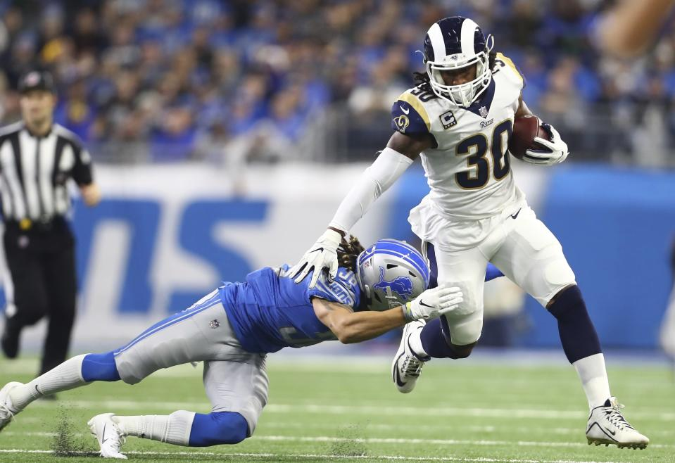 The Fantasy Football Live crew is here to get you ready for the first round of the fantasy playoffs, when Todd Gurley will try to find running room against the Bears' vaunted defense. (AP Photo/Rey Del Rio, File)