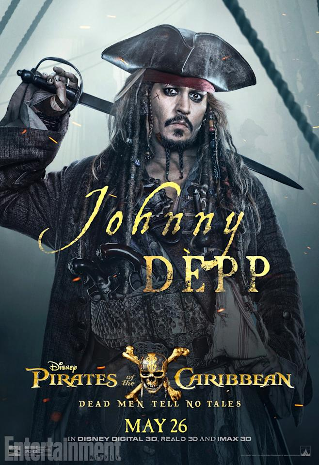 <p>He's back – Johnny Depp stars as Captain Jack Sparrow… and he's off on an epic adventure to stop an age-old nemesis. Once again, he's after an old, seafaring artefact to save the day. But can he send Captain Salazar and his ghostly crew back to where they belong?<br />(Credit: Disney) </p>