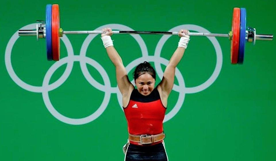 Weightlifter Hidilyn Diaz earned silver at the Rio 2016 Olympics in the 53kg competition. Photo: Facebook