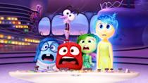 """<p>Even as an adult, processing difficult emotions and feelings can be difficult. Enter <em>Inside Out,</em> a Pixar animated comedy about the adventures of the five emotions who live in the mind of a young girl named Riley: Joy (Amy Poehler), Sadness (Phyllis Smith), Disgust (Mindy Kaling), Fear (Bill Hader), and Anger (Lewis Black). </p> <p><a href=""""https://cna.st/affiliate-link/2FoCAs6c5AJCuv1wUemtpFKQVkTMm4TZiGQTPZis3qzEncJHSMQ1RjcD6YLY8vFLovMnDYVcC4AqBahpWE6dFnDGYn8KZBHEqtguSJsK2Q9YP8wgSHzjYG?cid=60621d12fa3752ce51c900f0"""" rel=""""nofollow noopener"""" target=""""_blank"""" data-ylk=""""slk:Available to stream on Disney+"""" class=""""link rapid-noclick-resp""""><em>Available to stream on Disney+</em></a></p>"""