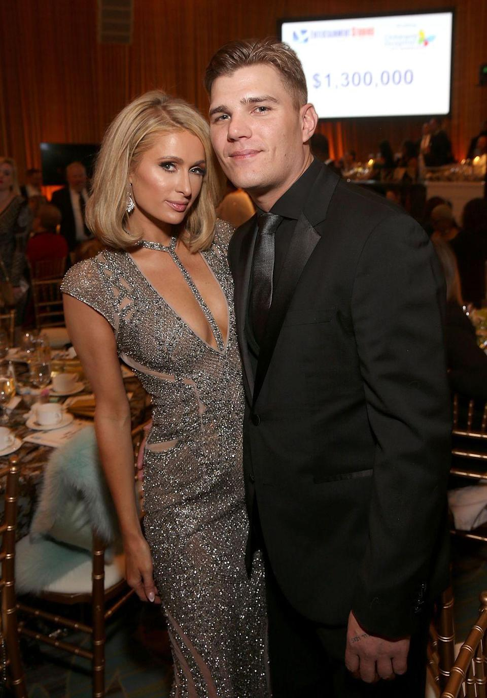 """<p>Nearly a year after the actor proposed to Hilton, they called off their engagement <a href=""""https://people.com/style/paris-hilton-split-fiance-chris-zylka/"""" rel=""""nofollow noopener"""" target=""""_blank"""" data-ylk=""""slk:in November 2018"""" class=""""link rapid-noclick-resp"""">in November 2018</a>. Earlier this year, the socialite told <a href=""""https://www.cosmopolitan.com/uk/entertainment/a31036334/paris-hilton-cosmopolitan-uk-april-cover/"""" rel=""""nofollow noopener"""" target=""""_blank"""" data-ylk=""""slk:Cosmopolitan UK"""" class=""""link rapid-noclick-resp""""><em>Cosmopolitan UK</em></a> that ending things with Zylka was """"the best decision I've ever made in my life."""" She added, """"I just don't think [he] was the right person, and I feel like I'm an incredible woman and I deserve someone so amazing.""""</p>"""