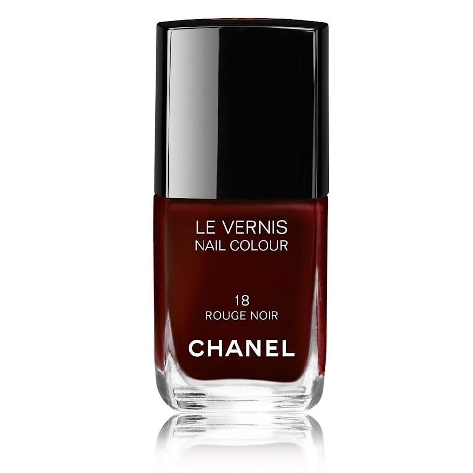 "<h3>Chanel Le Vernis in Rouge Noir</h3><br>Like Lively, Selena Gomez recently wore a deep-berry manicure, courtesy of Chanel's classic Rouge Noir polish.<br><br><strong>Chanel</strong> LE VERNISLONGWEAR NAIL COLOUR, $, available at <a href=""https://www.chanel.com/en_WW/fragrance-beauty/makeup/p/nails/nail-colour/le-vernis-longwear-nail-colour-p159500.html#skuid-0159014"" rel=""nofollow noopener"" target=""_blank"" data-ylk=""slk:Chanel"" class=""link rapid-noclick-resp"">Chanel</a>"