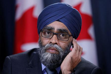 Canada's Defence Minister Harjit Sajjan takes part in a news conference in Ottawa, Ontario, Canada, December 12, 2017. REUTERS/Chris Wattie