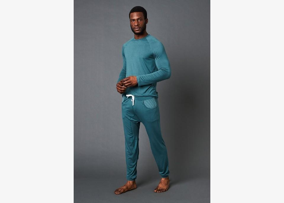 Long Sleeve Shirt + Lounge Pant. (Image via This Is J)
