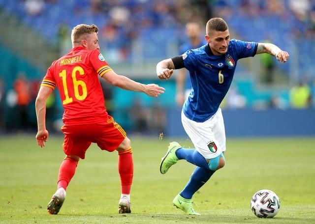 Marco Verratti will aim to orchestrate for Italy in midfield