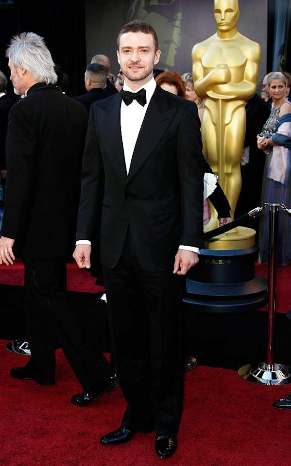 Justin Timberlake arrives at the 83rd Academy Awards at the Kodak Theatre in Hollywood, CA.