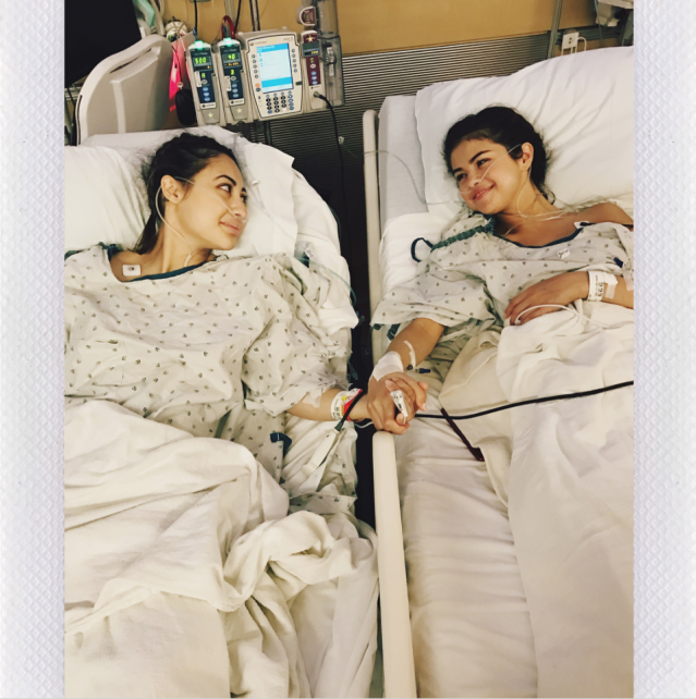 "<p>Following a string of canceled tour dates in 2015, Selena Gomez revealed that she was struggling with the autoimmune disease lupus. ""I was diagnosed with lupus, and I've been through chemotherapy,"" she told <a href=""http://www.billboard.com/articles/news/6721973/selena-gomez-billboard-cover-sneak-peek?utm_source=twitter"" rel=""nofollow noopener"" target=""_blank"" data-ylk=""slk:Billboard"" class=""link rapid-noclick-resp""><em>Billboard</em></a> magazine that year. But this year, the ""Wolves"" singer was noticeably absent from the limelight, especially during the summer. Well, that's because she secretly underwent a <a href=""https://www.yahoo.com/lifestyle/selena-gomez-tears-talking-kidney-144734359.html"" data-ylk=""slk:kidney transplant;outcm:mb_qualified_link;_E:mb_qualified_link"" class=""link rapid-noclick-resp newsroom-embed-article"">kidney transplant</a>, thanks to her best friend, Francia Raisa. ""There aren't words to describe how I can possibly thank my beautiful friend,"" Gomez <a href=""https://www.instagram.com/p/BZBHr4Pg5Wd/?taken-by=selenagomez"" rel=""nofollow noopener"" target=""_blank"" data-ylk=""slk:wrote on Instagram"" class=""link rapid-noclick-resp"">wrote on Instagram</a>. ""She gave me the ultimate gift and sacrifice by donating her kidney to me. I am incredibly blessed. I love you so much sis."" (Photo: Selena Gomez via Instagram) </p>"