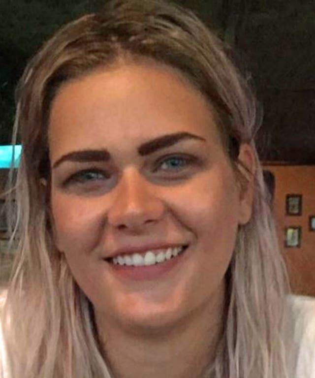 Bethan Roper, 28, suffered a fatal head injury after being struck by an overhanging tree branch as she lent from a train window (British Transport Police/PA)