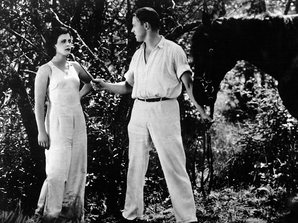 Hedy Lamarr and Aribert Mog on the set of 'Ecstasy' (Glasshouse Images/Shutterstock)
