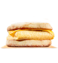 <p>Eggs and melted cheese piled inside a toasted English muffin. Delicious, meat-free, and one of the leanest breakfast sandwiches at Burger King. <br> — Calories: 270 <br> — Fat: 11 g (Saturated Fat 4.6 g) <br> — Sodium: 660 mg <br> — Carbohydrates: 23 g <br> — Sugar: 3 g <br> — Source/photo: Burger King Canada </p>