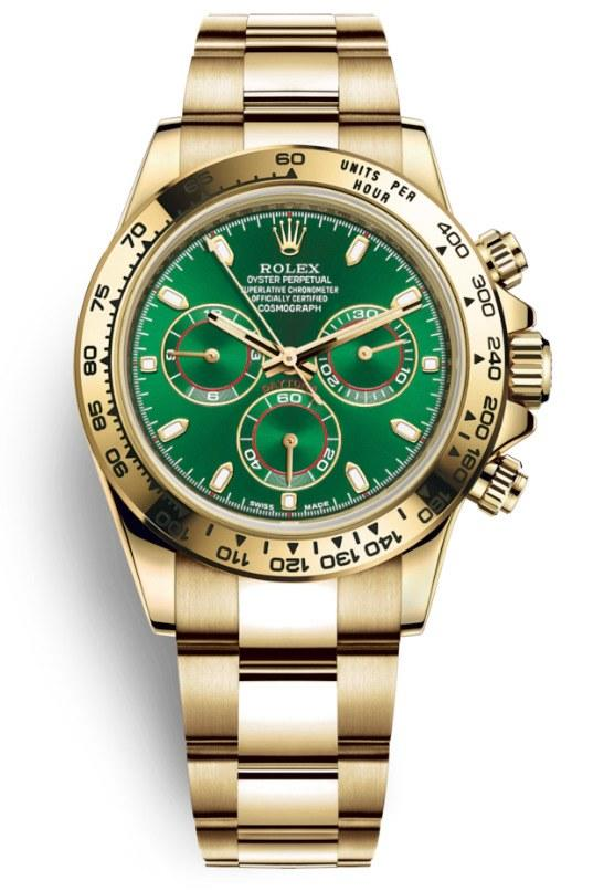 "The gold green-dial Rolex Cosmograph Daytona now nicknamed ""The John Mayer"""