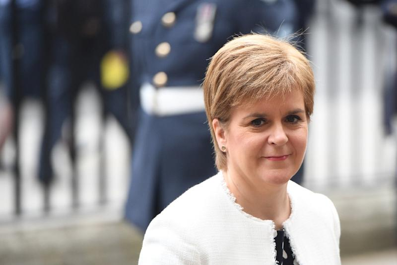 Scotland's First Minister Nicola Sturgeon has refused to meet Trump on his visit but has resisted pressure from some Scottish lawmakers to deny him landing rights at Glasgow's Prestwick Airport (AFP Photo/Chris J Ratcliffe)