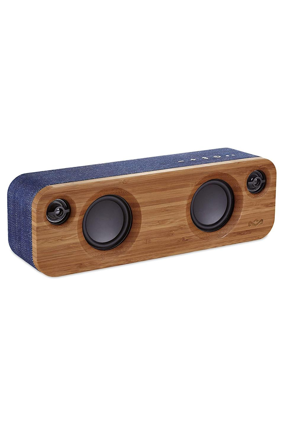 """<p><strong>House of Marley</strong></p><p>amazon.com</p><p><strong>$149.99</strong></p><p><a href=""""https://www.amazon.com/dp/B01DKGP5RI?tag=syn-yahoo-20&ascsubtag=%5Bartid%7C10051.g.13053688%5Bsrc%7Cyahoo-us"""" rel=""""nofollow noopener"""" target=""""_blank"""" data-ylk=""""slk:Shop Now"""" class=""""link rapid-noclick-resp"""">Shop Now</a></p><p>Made from bamboo with House of Marley's signature Rewind fabric (a blend of hemp, recycled bottles and organic cotton), these eco-friendly bluetooth speakers deliver equally impressive sound and style. As one reviewer wrote: """"I'm a music major and I use this to practice with orchestra backing... Sound quality is amazing across the board. You can hear every voice in the orchestra, but is not too bass heavy for Drake and Post Malone.""""</p>"""