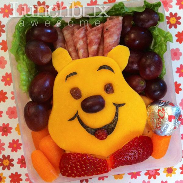 Heather has created recognisable faces from famous Disney cartoons including Goofy, Captain Hook, Woody from Toy Story, Winnie the Pooh, Eeyore and Tigger for the bentos. <br><br>Photo: Heather Sitarzewski