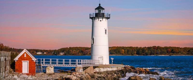 Yet another beautiful day at the Portsmouth Harbor Lighthouse, New Castle, New Hampshire, USA