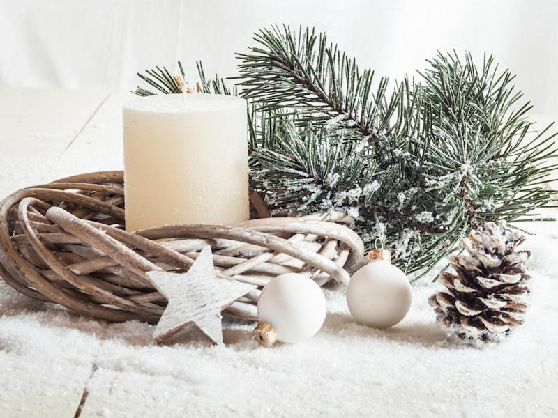 Go for a minimalist look with an artificial wreath: iStockphoto