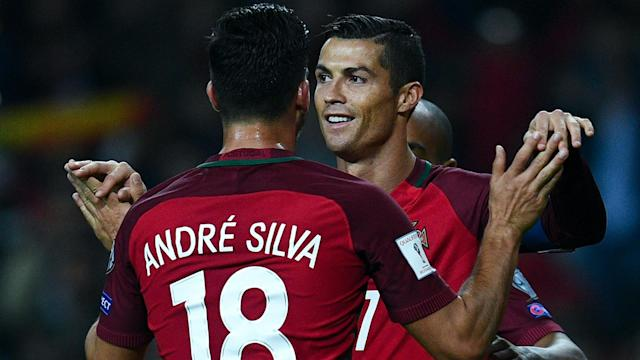 Andre Silva and a Cristiano Ronaldo double gave Portugal a 3-0 win over Hungary that keeps them second in World Cup qualifying Group B.