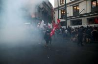 Demonstration against government plans to regulate street protests in Athens