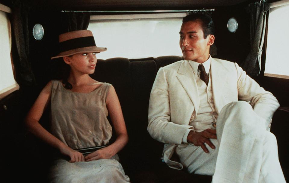 """<strong><em><h3>The Lover </h3></em></strong><h3>(1992)<br></h3><br>In this film based on the famous novel by Margeurite Duras, a French teenager and a wealthy older Chinese man in 1920s French Indochina carry out an affair in seedy corners of Saigon. The jig's almost up on their forbidden relationship. But when will it end, and how?<span class=""""copyright"""">Renn/Burrill/Films A2/Kobal/REX/Shutterstock</span>"""