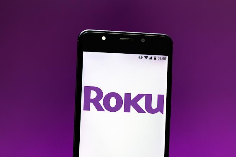 BRAZIL - 2019/09/11: In this photo illustration the Roku Streaming Player logo is seen displayed on a smartphone. (Photo Illustration by Rafael Henrique/SOPA Images/LightRocket via Getty Images)