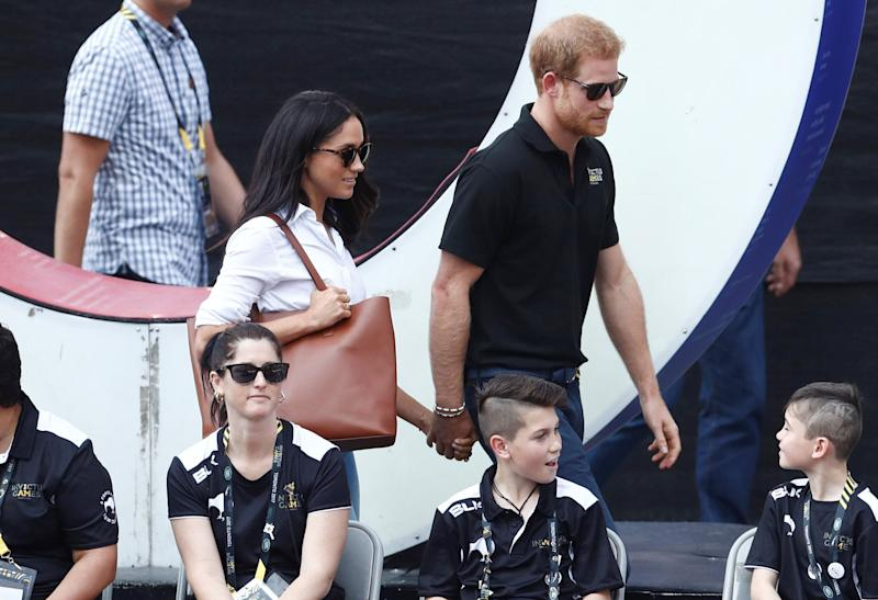 "It was at the Invictus Games in Toronto where <a href=""https://www.huffingtonpost.ca/entry/meghan-markle-prince-harry-invictus-games_ca_5cd506e3e4b07bc7297411e3"" target=""_blank"" rel=""noopener noreferrer"">Meghan and Harry made their public debut as a couple</a>. The twosome watched a game of wheelchair tennis at Nathan Phillips Square on Sept. 25, 2017."
