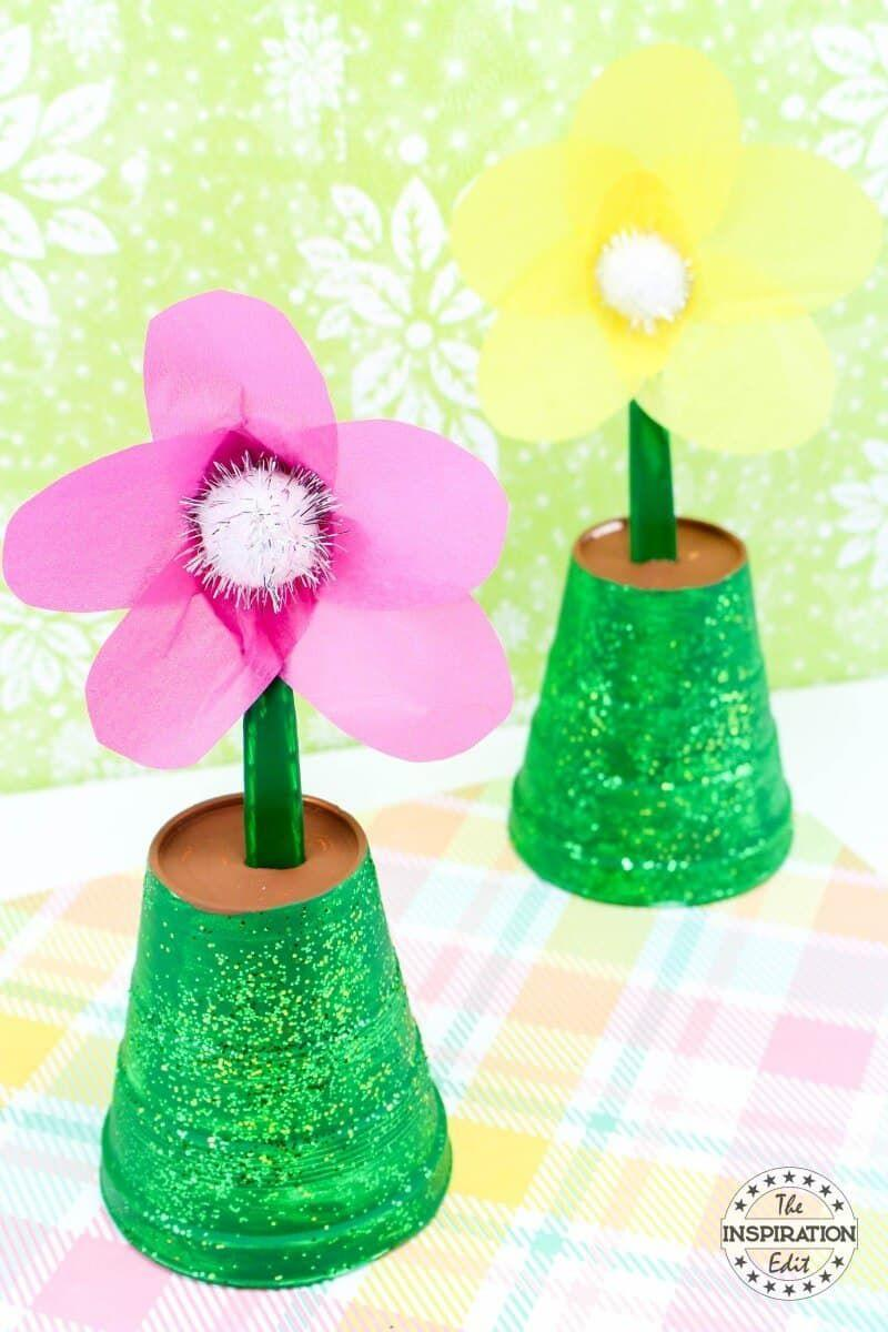 """<p>Handcrafted stems rival real flowers any day. Make mom smile with a mini garden of DIY potted plants. </p><p><strong>Get the tutorial at <a href=""""https://www.theinspirationedit.com/spring-time-flower-pot-painting/"""" rel=""""nofollow noopener"""" target=""""_blank"""" data-ylk=""""slk:The Inspiration Edit"""" class=""""link rapid-noclick-resp"""">The Inspiration Edit</a>. </strong></p><p><strong><a class=""""link rapid-noclick-resp"""" href=""""https://www.amazon.com/Non-Toxic-Reusable-Multiple-Dispensing-Reduction/dp/B009EA1C9A/?tag=syn-yahoo-20&ascsubtag=%5Bartid%7C10050.g.4233%5Bsrc%7Cyahoo-us"""" rel=""""nofollow noopener"""" target=""""_blank"""" data-ylk=""""slk:SHOP GREEN GLITTER"""">SHOP GREEN GLITTER</a><br></strong></p>"""