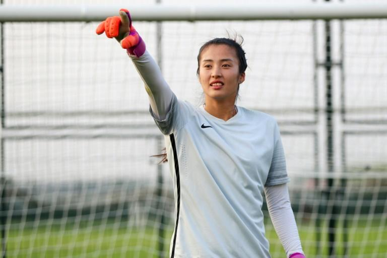Towering presence: China women's goalkeeper Zhao Lina