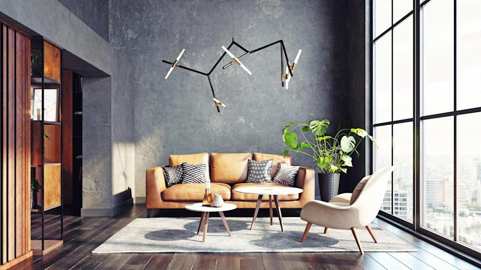 Home Decor Items Worth Spending Money On, living room with sofa and lighting