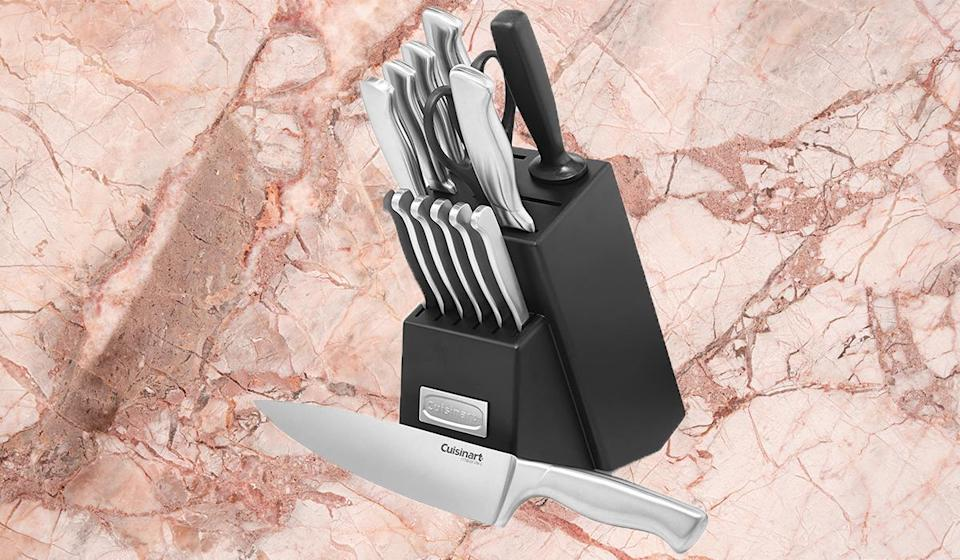 Grab this knife set on sale. (Photo: Amazon)