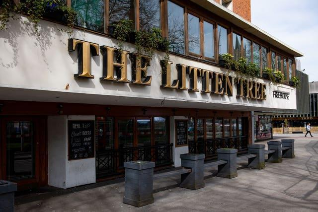 The Litten Tree pub in Coventry (Jacob King/PA)