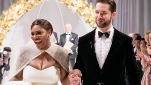 Serena and Alexis tie the knot. Image: Yahoo Sports/Twitter