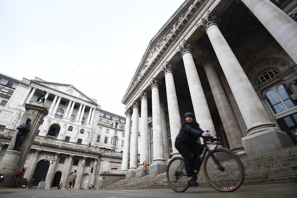 The Bank of England will gather this week to decide on interest rates as it comes under mounting pressure to rein in rising prices after the biggest jump in inflation for at least 24 years. (PA Wire)