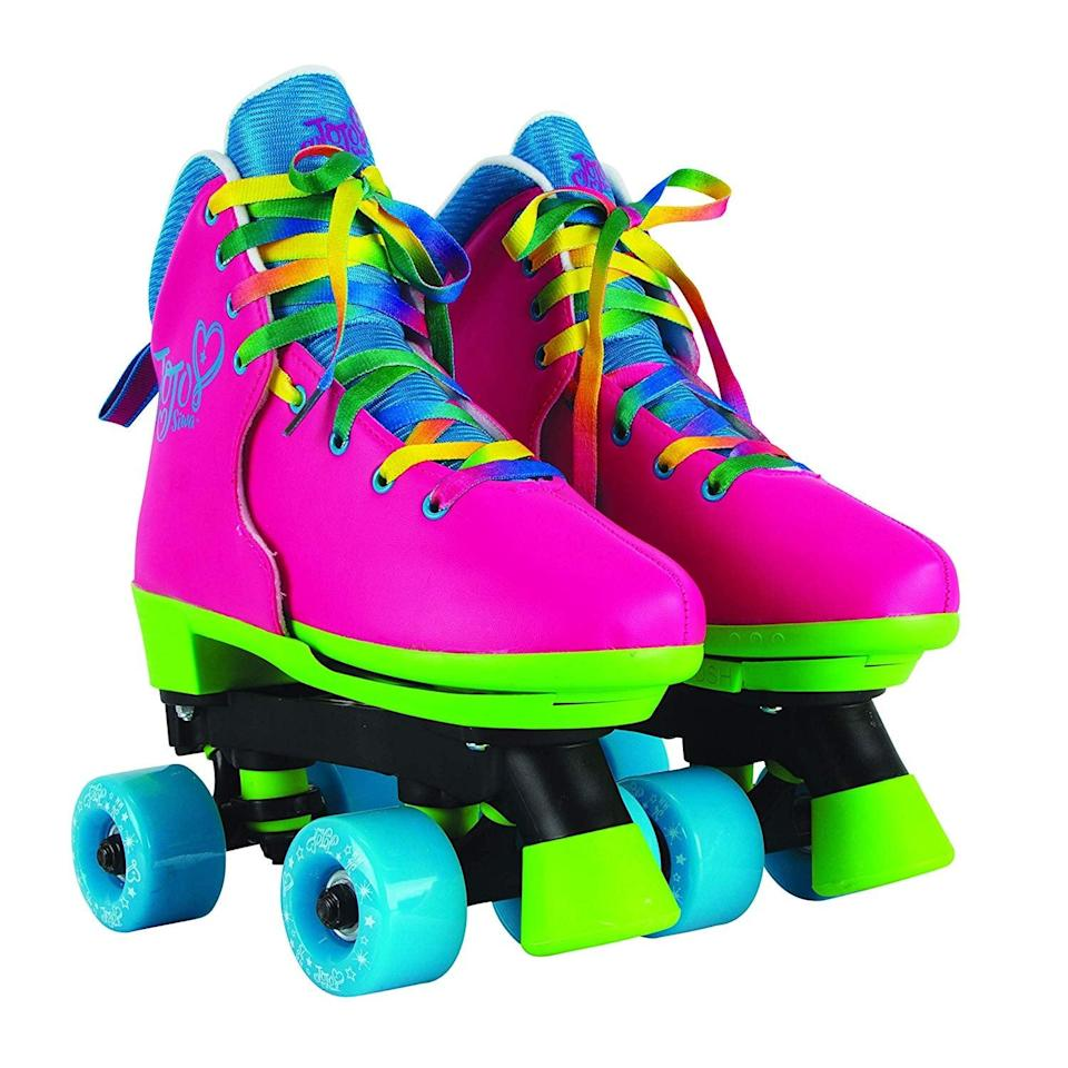 <p>The <span>JoJo Siwa Circle Society Classic Adjustable Indoor &amp; Outdoor Childrens Roller Skates </span> ($60) will be tons of fun. They can skate around all summer long.</p>