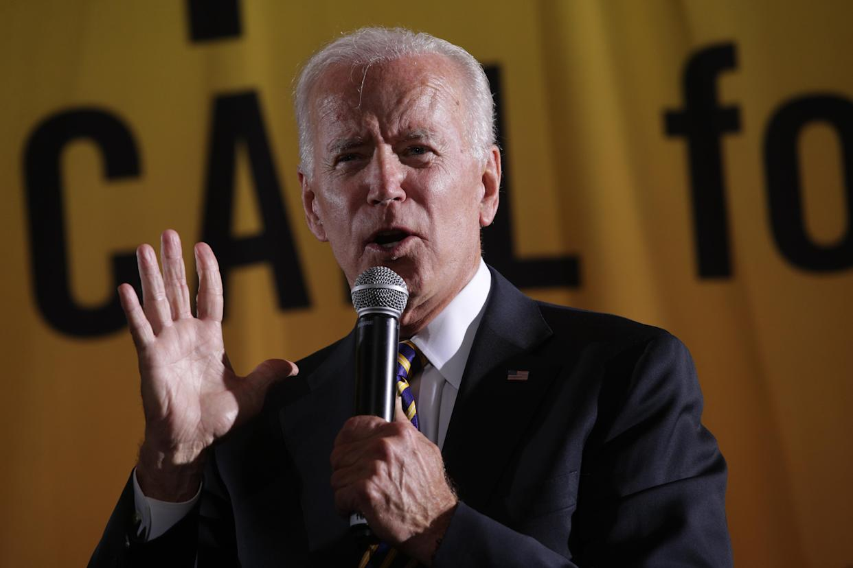 Former Vice President Joe Biden addresses the Moral Action Congress of the Poor People's Campaign in Washington, D.C., on Monday. (Photo: Alex Wong/Getty Images)