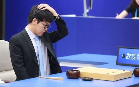 Chinese Go player Ke Jie competes against Google's artificial intelligence (AI) program, AlphaGo - Credit: Rex Features