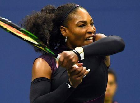 Aug 30, 2016; New York, NY, USA; Serena Williams of the USA after beating Ekaterina Makarova of Russia on day two of the 2016 U.S. Open tennis tournament at USTA Billie Jean King National Tennis Center. Mandatory Credit: Robert Deutsch-USA TODAY Sports / Reuters Picture Supplied by Action Images *** Local Caption *** 2016-08-31T002304Z_1937174420_NOCID_RTRMADP_3_TENNIS-U-S-OPEN.JPG