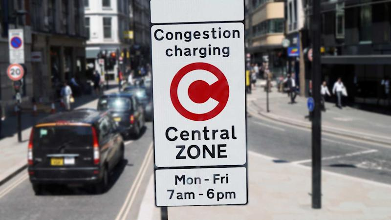 Congestion Charge Zone sign in central London
