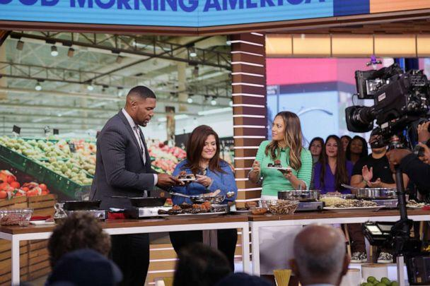 PHOTO: Chef Alex Guarnaschelli appears on 'GMA' to cook with ingredients from the supermarket. (ABC News)