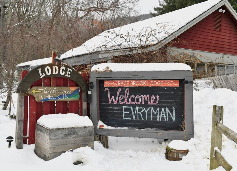 The Evryman retreat in Sheffield, Massachusetts (AFP Photo/Angela Weiss)